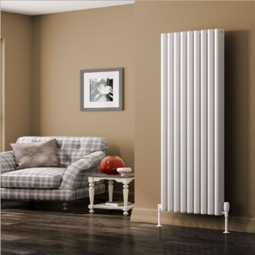 Reina Alco Vertical Designer Radiator - 1800mm High x 400mm Wide - Anthracite